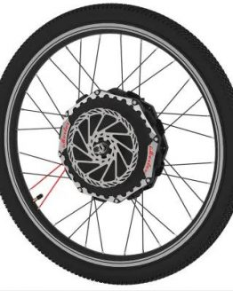 iMortor 2.0 24 V 26 inch Bicycle Front Wheel - BLACK EU PLUG